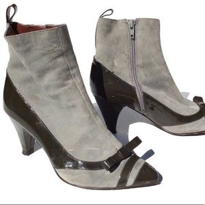 Marc Jacobs gray oxford Boots 36 1/2 steampunk